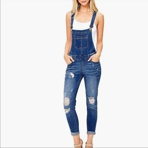 Wax Jeans Denim Overalls Ankle Length S NWT